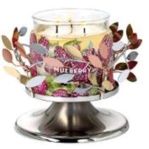 PartyLite Shimmering Leaves Pedestal Jar Holder